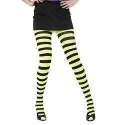 Collants rayés noir et jaune Accessoires de fête 87270050