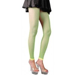Leggings vert fluo femme Accessoires de fête 87270124