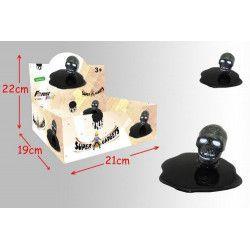 Pâte slime noire tête de mort vendue par 12 Jouets et kermesse 12876-LOT