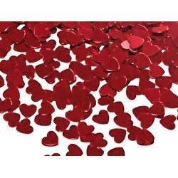 Confettis de table coeur rouge 20 g Déco festive 873034