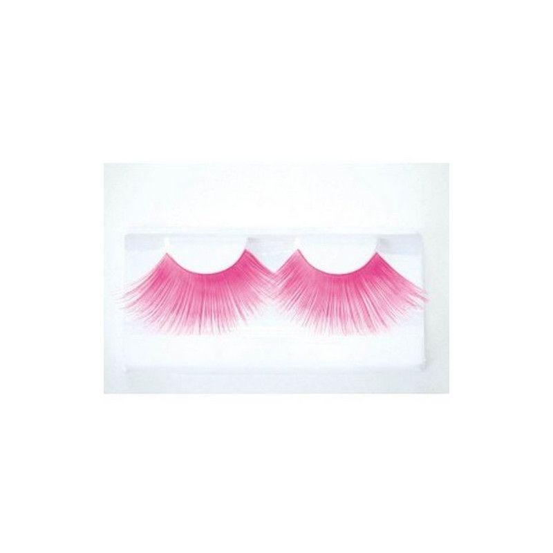 Faux cils jumbo rose fluo UV Accessoires de fête 87307710