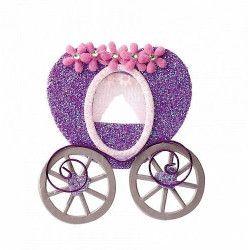 Déco festive, Sachet 2 carrosses lilas autocollants mariage, 12885, 3,20€