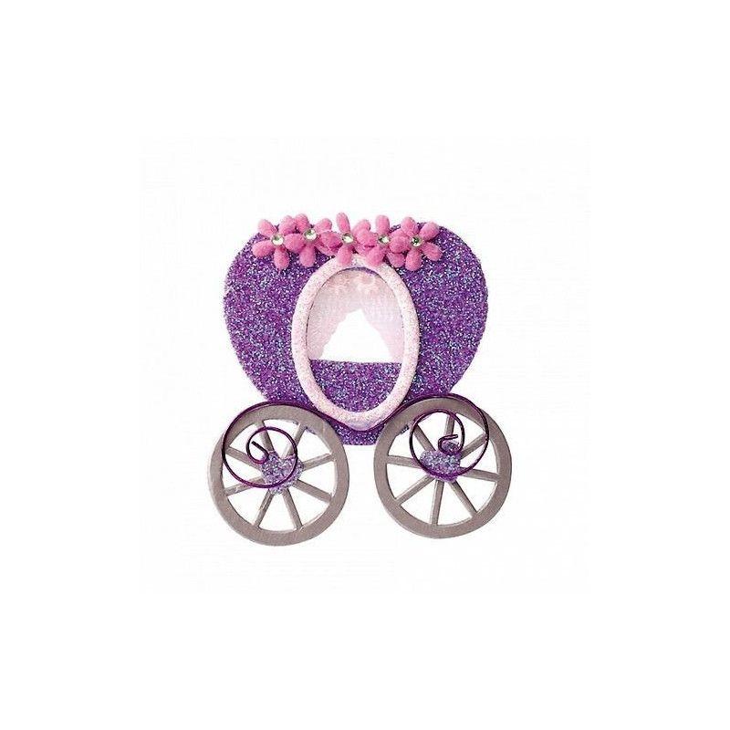 Sachet 2 carrosses lilas autocollants mariage Déco festive 12885