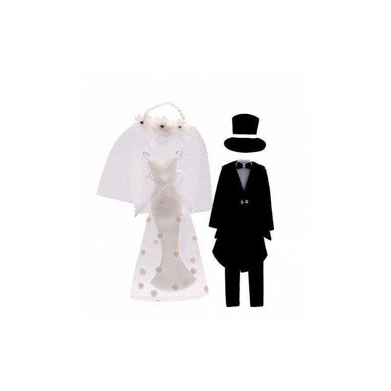 Décoration couple de mariés avec autocollant Déco festive 12894