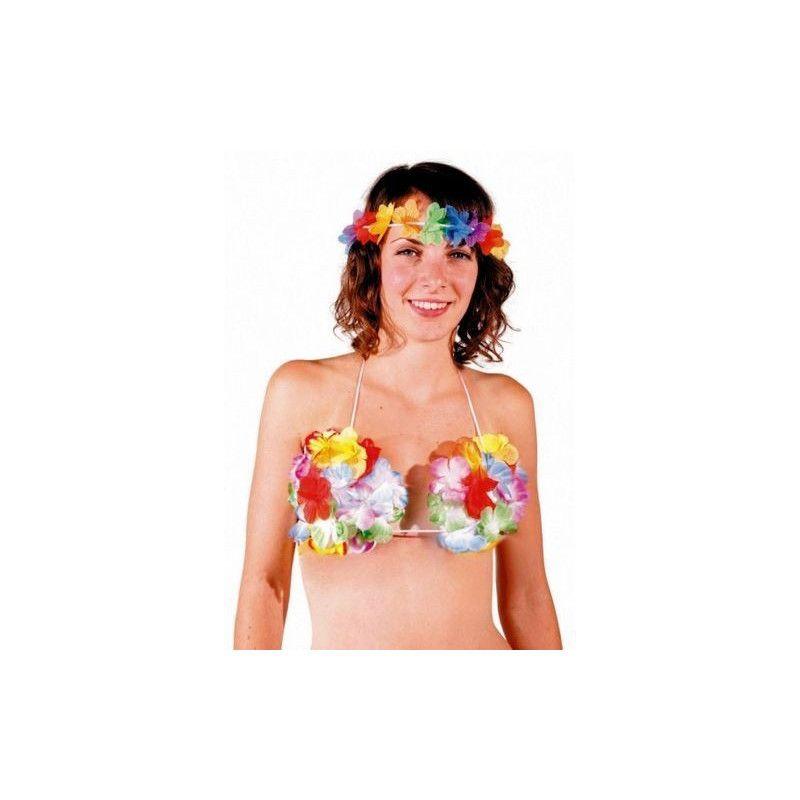 Soutien gorge Hawaï Accessoires de fête 873138