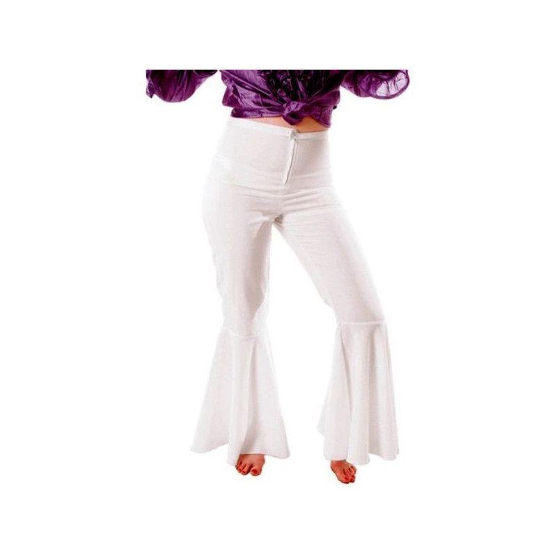 Pantalon disco blanc femme taille M-L Déguisements 87314606