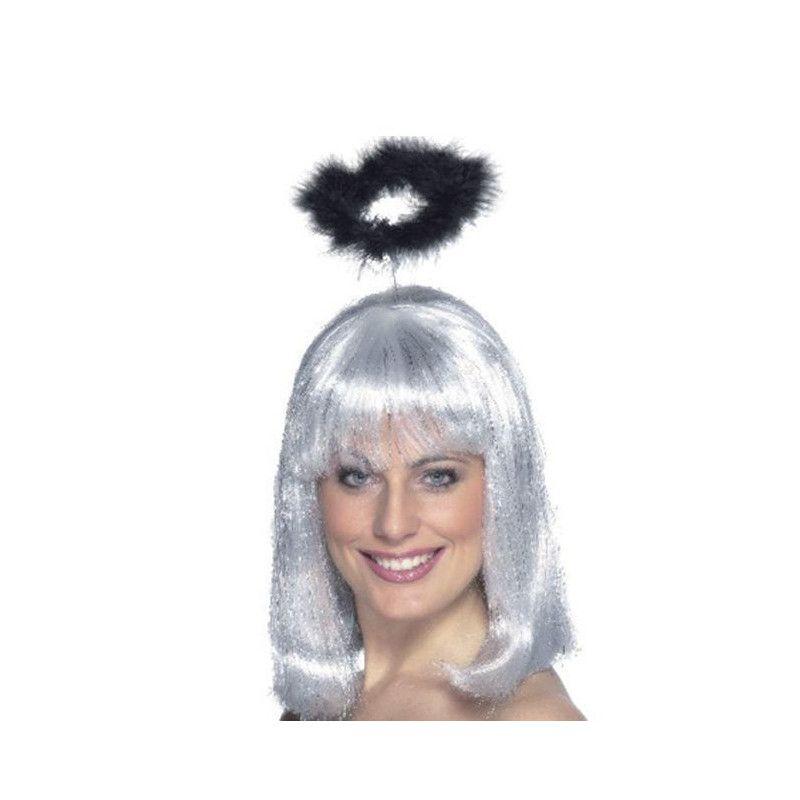 Auréole d'ange avec marabout noir Accessoires de fête 87325803
