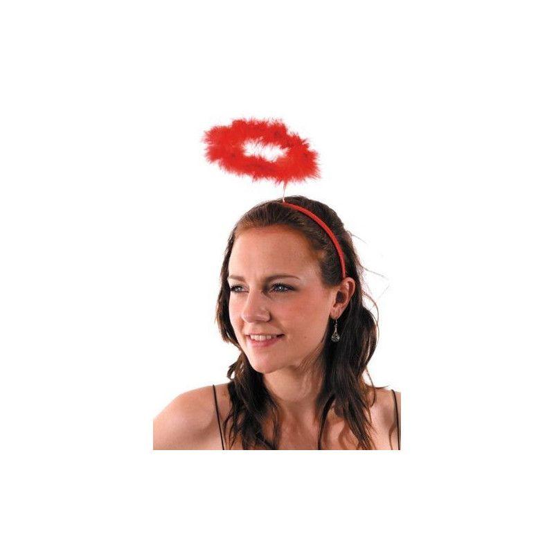 Auréole d'ange rouge en serre tête Accessoires de fête 87325805