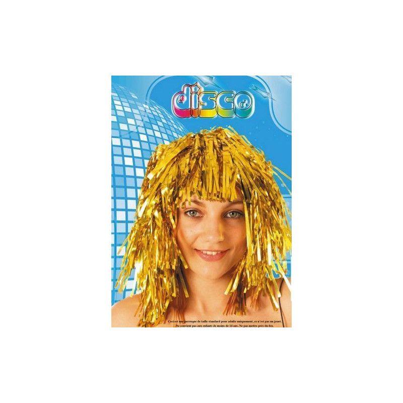 Perruque tinsel disco or Accessoires de fête 87333612