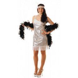 Déguisements, Costume charleston argent femme, 87333711, 21,75€