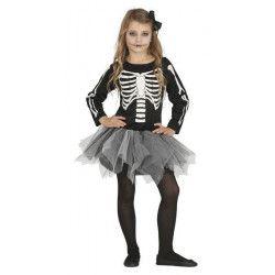 Déguisements, Déguisement tutu squelette enfant taille 5-6 ans, 87387GUIRCA, 19,90€