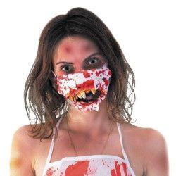 Masque ensanglanté docteur zombie Accessoires de fête 87397