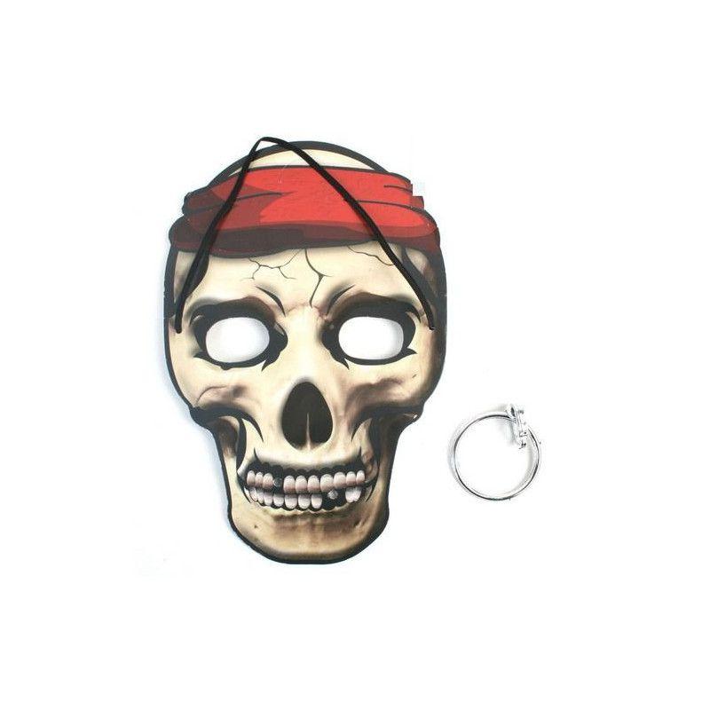 Masque pirate enfant avec boucle d'oreilles Jouets et articles kermesse 13014-UNITE