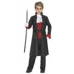 Déguisement Dracula rouge et noir garçon 5-6 ans Déguisements 87431