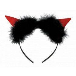 Serre tête avec marabout noir Accessoires de fête 875018