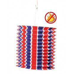Déco festive, Lot de 12 lampions cylindriques tricolores 16 cm, 877006, 9,00€