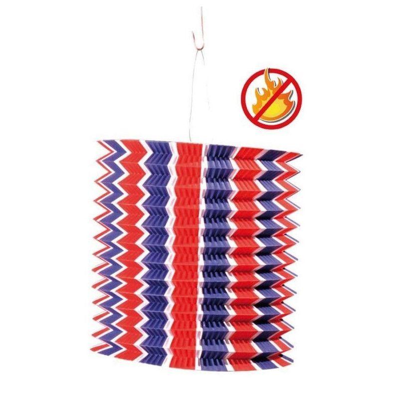 Lot de 12 lampions cylindriques tricolores 16 cm Déco festive 877006
