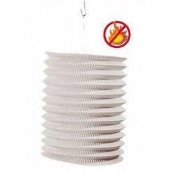 Déco festive, Lot de 12 lampions cylindriques blancs 16 cm, 877011, 9,00€
