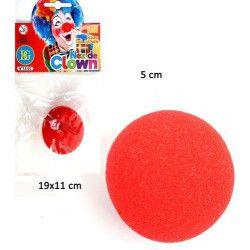 Nez de clown en mousse rouge Accessoires de fête 13151