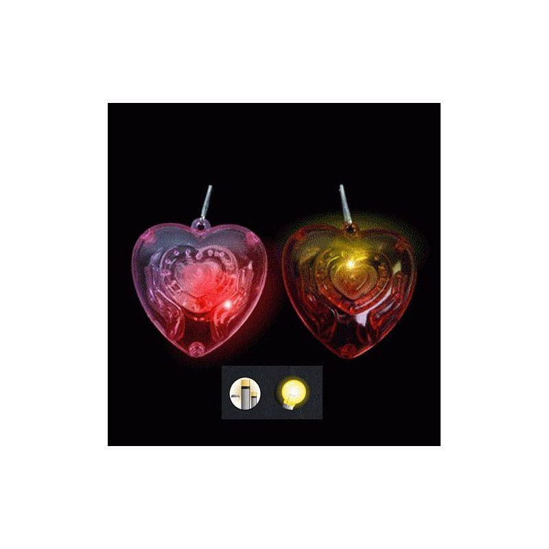 Collier avec coeur lumineux kermesse vendu par 36 Jouets et articles kermesse 13212-LOT