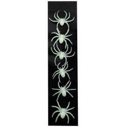 Lot de 6 araignées phosphorescentes UV réactif Accessoires de fête 882009
