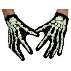 Paire de gants squelette phosphorescents Accessoires de fête 882021