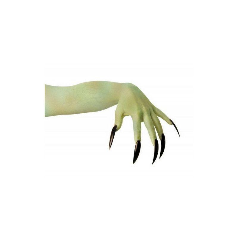 Faux ongles noirs x10 Accessoires de fête 882022
