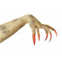 Faux ongles rouges x10 Accessoires de fête 882023