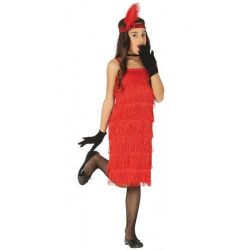 Déguisement robe charleston rouge fille 7-9 ans Déguisements 88530
