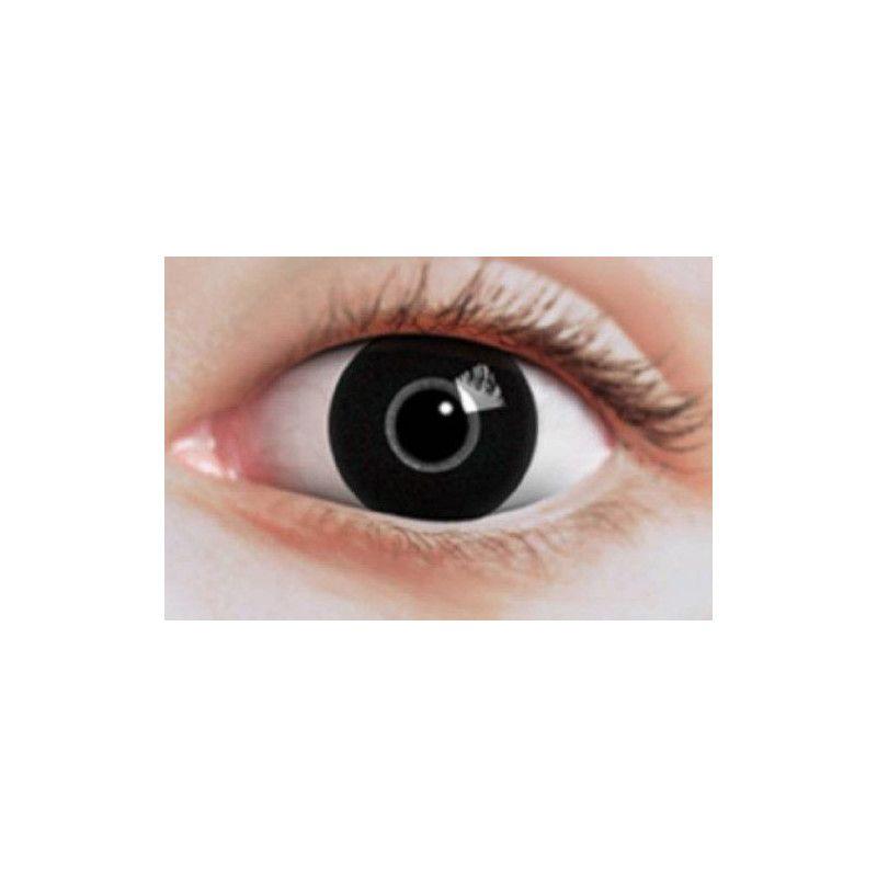 Lentilles fantaisie iris noir Accessoires de fête 887003