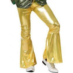 Pantalon disco or adulte taille M-L Déguisements 13252