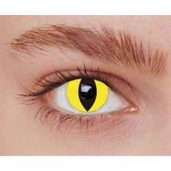 Lentilles fantaisie yeux chat jaunes annuelles Accessoires de fête 887011