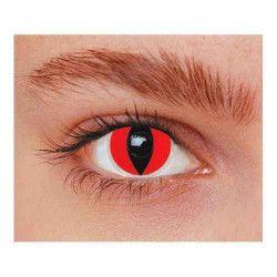 Accessoires de fête, Lentilles fantaisie yeux chat rouges annuelles, 887021, 14,90€
