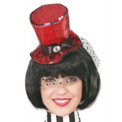 Mini chapeau haut de forme rouge Accessoires de fête 13271
