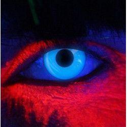Accessoires de fête, Lentilles de contact bleue néon fluorescentes UV, 887035, 22,50€