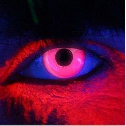 Accessoires de fête, Lentilles de contact rose néon fluorescentes UV, 887037, 22,50€