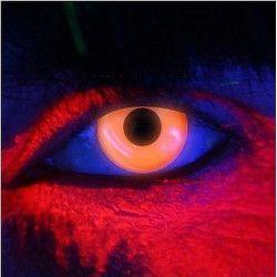 Lentilles de contact orange Néon fluorescentes UV Accessoires de fête 887038