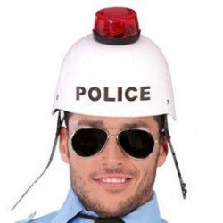 Accessoires de fête, Casque policier sonore et lumineux, 13273, 12,50€
