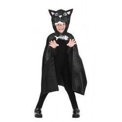 Cape noire enfant 75 cm halloween Accessoires de fête 888008