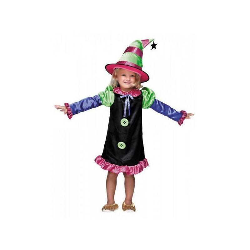 Déguisements, Déguisement sorcière colorée fille 4-6 ans, 888009, 22,50€