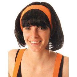 Bandeau fluo années 80 - Orange Néon Accessoires de fête 888021