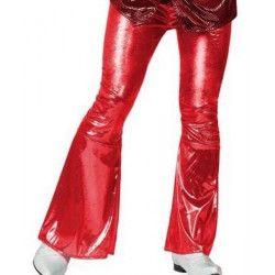 Pantalon disco rouge brillant taille S Déguisements 13284