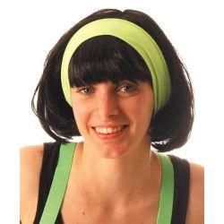 Bandeau fluo années 80 - Vert Accessoires de fête 888023