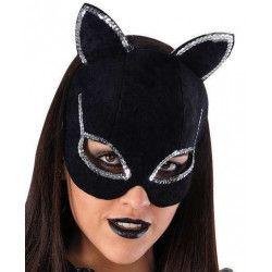 Masque loup de chat super héroine Accessoires de fête 901