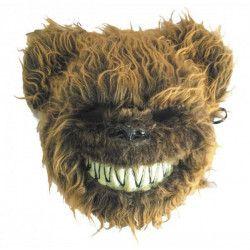 Masque ours effrayant velu marron Accessoires de fête 90236