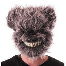 Masque ours effrayant velu gris Accessoires de fête 90236G