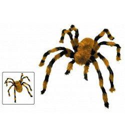 Grosse araignée marron et noire 104 cm Déco festive 90239