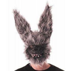 Masque lapin velu effrayant adulte Accessoires de fête 90270