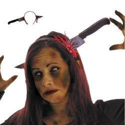 Serre tête couteau sanglant farce halloween Accessoires de fête 90272