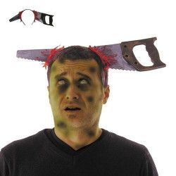 Serre tête scie sanglante farce halloween Accessoires de fête 90275